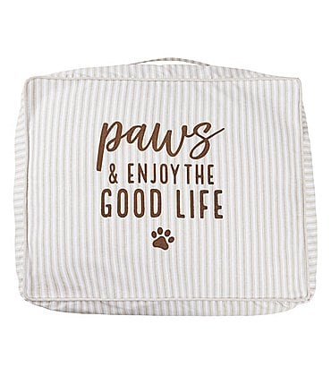 Image of Mud Pie Mud Puppy Collection Paws & Enjoy the Life Dog Bed