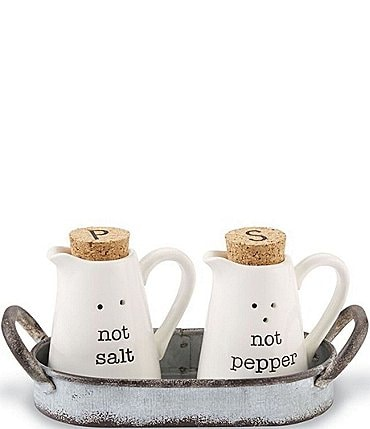 Image of Mud Pie Not Salt & Pepper Caddy Set