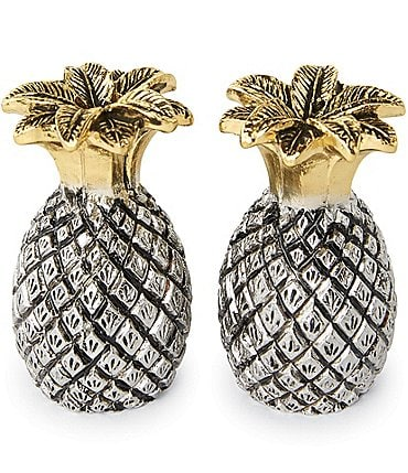 Image of Mud Pie Pineapple Salt & Pepper Shaker Set