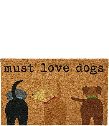 Image of Mud Pie Puppy Collection Must Love Dogs Door Mat