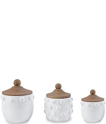 Image of Mud Pie Raised Dotted Canister Set