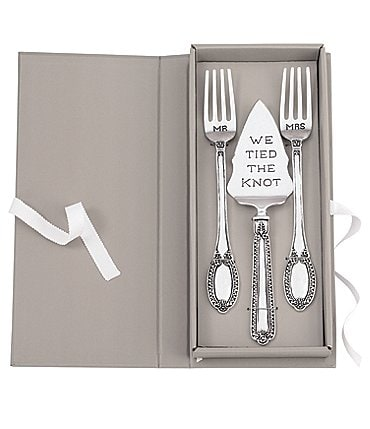 Image of Mud Pie Tied The Knot Cake Knife & Server Set