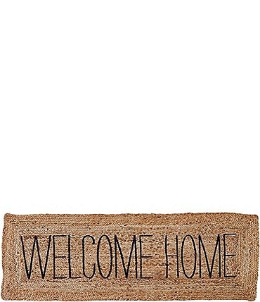 Image of Mud Pie Veranda Collection Welcome Home Long Mat