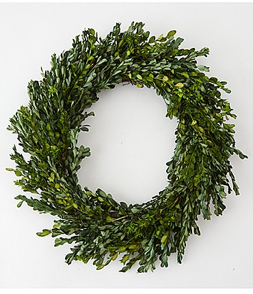 "Image of Mud Pie Vintage Farmhouse Collection 22"" Preserved Boxwood Wreath"