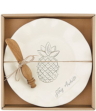 Image of Mud Pie Washed Pineapple Cheese Set