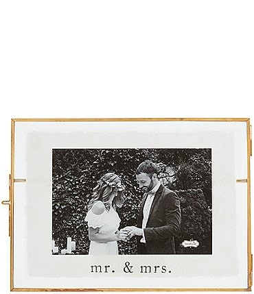 Image of Mud Pie Wedding Collection 4 X 6 Wedding Glass Frame