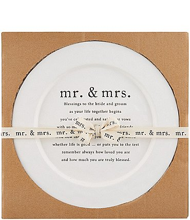 Image of Mud Pie Wedding Blessing Round Platter
