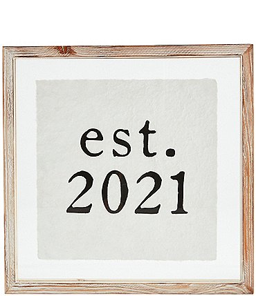 Image of Mud Pie Wedding Collection Est 2021 Wood Plaque