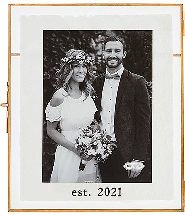 Image of Mud Pie Wedding Collection EST. 2021 5 x 7 Glass Frame