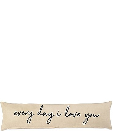 "Image of Mud Pie Wedding Collection ""Every Day I Love You"" Long Pillow"