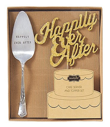 Image of Mud Pie Wedding Collection Happily Ever After Cake Set