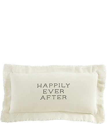 Image of Mud Pie Wedding Collection Happily Ever After Pillow