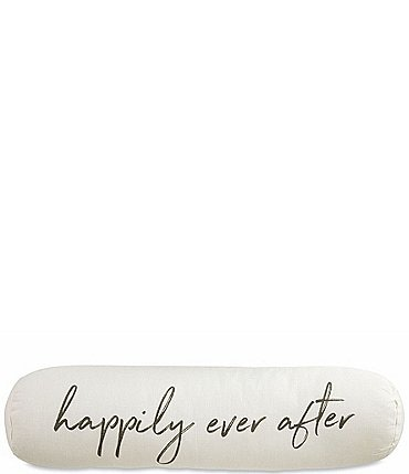Image of Mud Pie Wedding Collection Happily Ever Bolster Pillow
