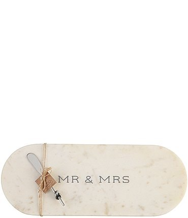 "Image of Mud Pie Wedding Collection ""Mr & Mrs"" Marble Board Set"