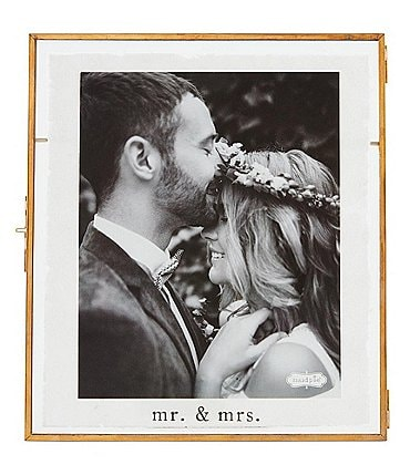 Image of Mud Pie Wedding Collection Mr & Mrs 8x10 Frame