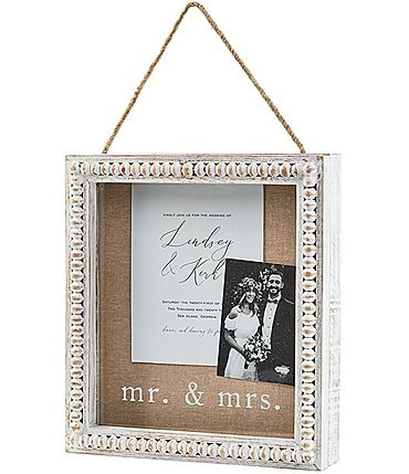 Image of Mud Pie Wedding Collection Mr & Mrs Shadow Box