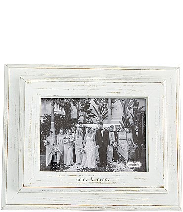 "Image of Mud Pie Wedding Collection ""Mr. & Mrs."" 5x7"" Distressed Frame"