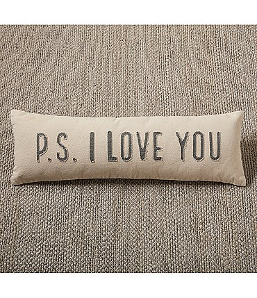 Image of Mud Pie Wedding Collection P.S. I Love You Pillow