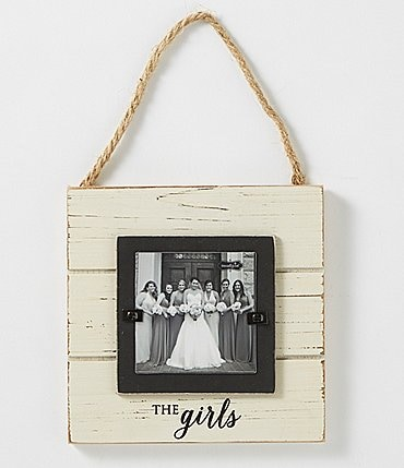 Image of Mud Pie Wedding Collection The Girls Door Hanger Frame