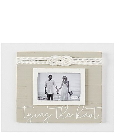 "Image of Mud Pie Wedding Collection ""Tying The Knot"" 4x6 Frame"