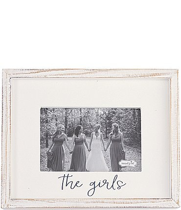 "Image of Mud Pie Wedding Collection White Washed ""The Girls"" 4x6 Frame"