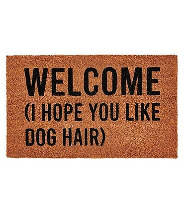 Image of Mud Pie Welcome Coir Door Mat