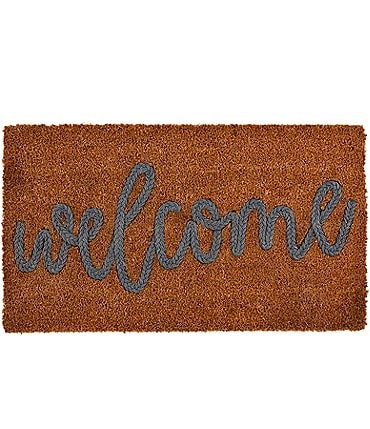 Image of Mud Pie Welcome Collection Coir Applique Mat