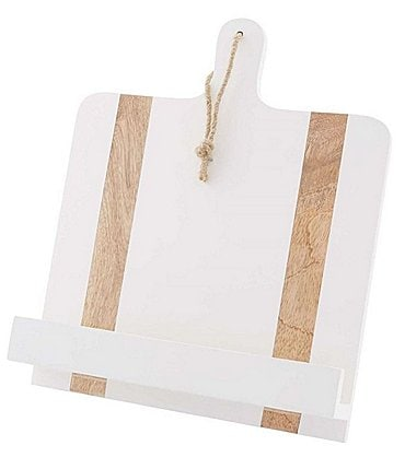 Image of Mud Pie White Cookbook Holder