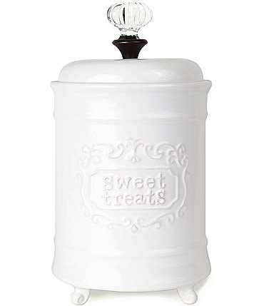 Image of Mud Pie White Doorknob Sweet Treat Jar