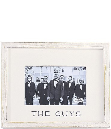 "Image of Mud Pie White Washed ""The Guys"" 4x6"" Frame"