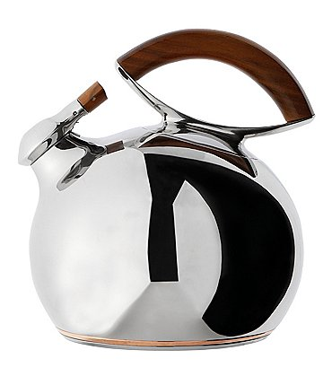 Image of Nambé Bulbo Stainless Steel & Acacia Wood Kettle