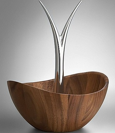 Image of Nambé Acacia Wood Fruit Bowl