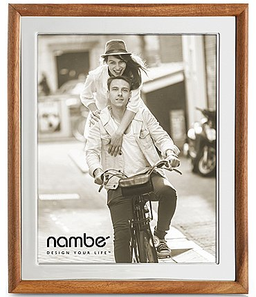 "Image of Nambe Hayden 8"" x 10"" Glass and Wood Frame"
