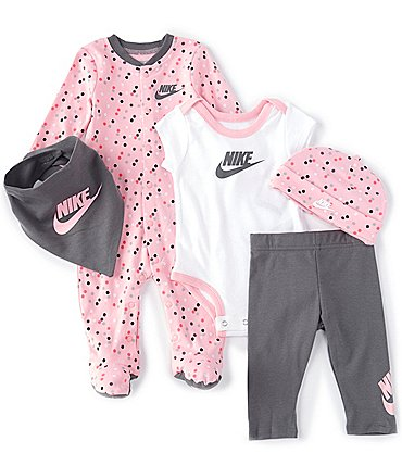Image of Nike Nike Baby Girls Newborn-9 Months Futura 5-Piece Layette Gift Set