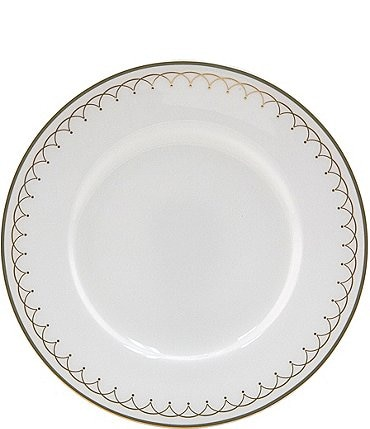 Image of Nikko Lattice Gold Scalloped Bone China Bread & Butter Plate