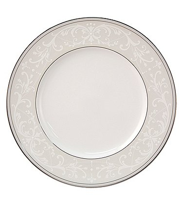 Image of Nikko Pearl Symphony Scroll Bone China Accent Salad Plate