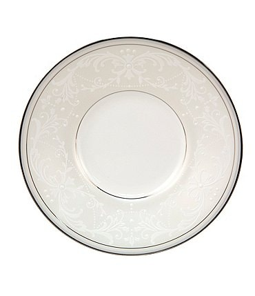 Image of Nikko Pearl Symphony Scroll Bone China Saucer