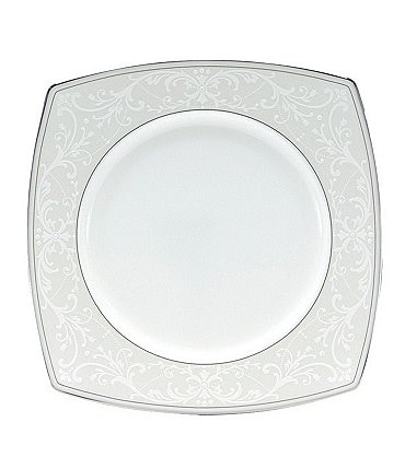 Image of Nikko Pearl Symphony Scroll Bone China Square Salad Plate