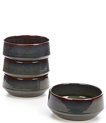 Image of Noble Excellence Aurora Collection Glazed Cereal Bowls, Set of 4