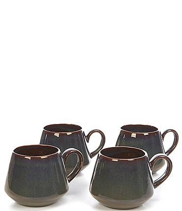 Image of Noble Excellence Aurora Collection Glazed Mugs, Set of 4
