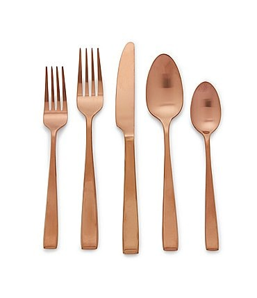 Image of Noble Excellence Nova 20-Piece Satin-Finished PVD Stainless Steel Flatware Set
