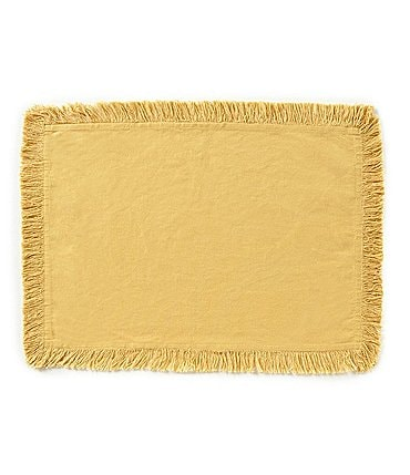 Image of Noble Excellence Saga Fringed Cotton Placemat