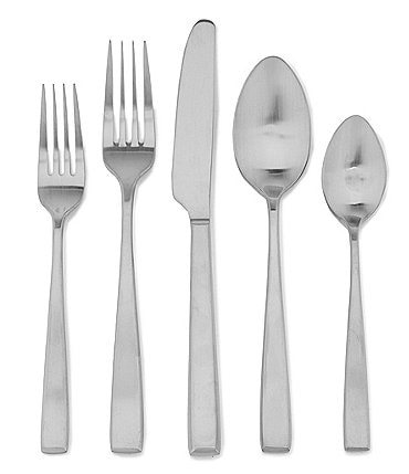Image of Noble Excellence Nova Satin Finished Silver Stainless Steel 20-Piece Flatware Set