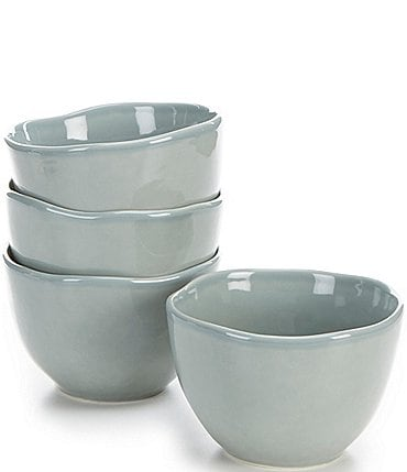 Image of Noble Excellence Willow Collection Glazed Cereal Bowls, Set of 4