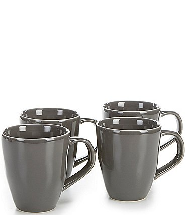 Image of Noble Excellence Willow Collection Glazed Coffee Mugs, Set of 4