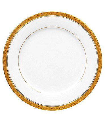 "Image of Noritake Crestwood Gold China 10.5"" Dinner Plate"