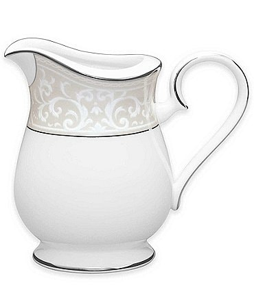 Image of Noritake Montvale Scroll Platinum Bone China Creamer