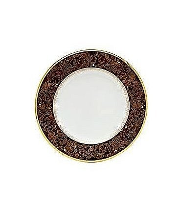 Image of Noritake Xavier Gold Paisley Bone China Accent Plate