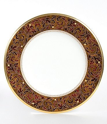Image of Noritake Xavier Gold Paisley Bone China Saucer