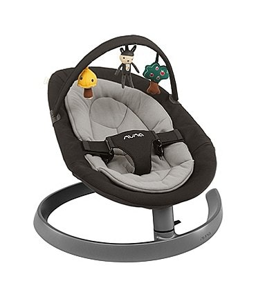 Image of Nuna Leaf Dusk Baby Lounger Chair with Toy Bar